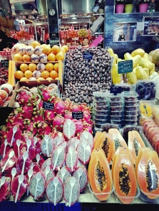 market fruit and spoon